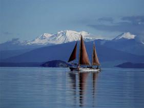 Boating on Lake Taupo